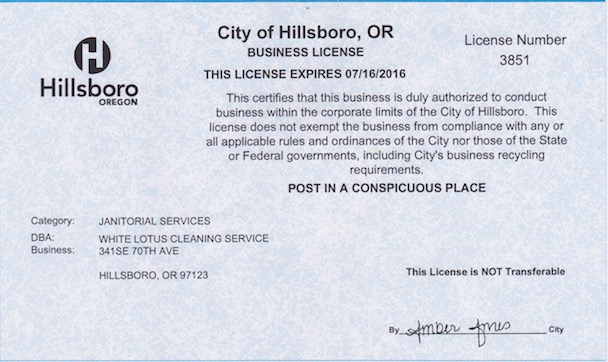 House Cleaning License